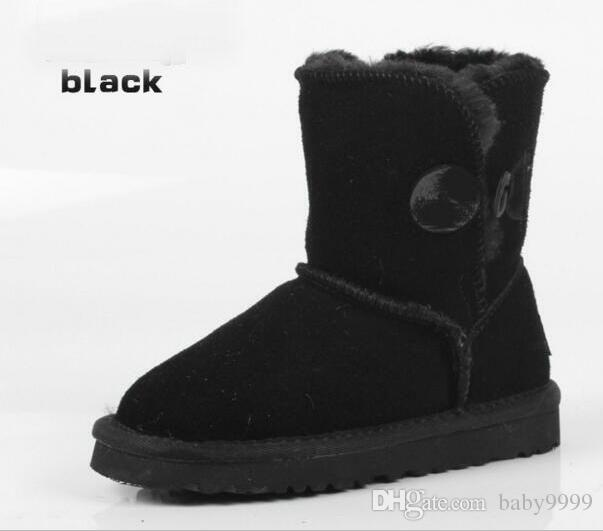 04ae892916a NEW UGG Classic short Child snow Australia Snow Boots girl kids boots  cowhide winter boots EU size: 25-34