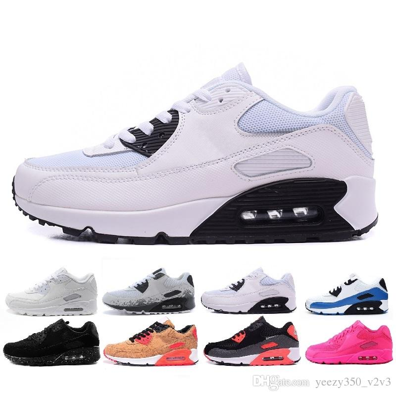95d8874f7be Compre Nike Air Max 90 Superstar Original White Hologram Iridescent Junior  Gold Superstars Sneakers Originals Super Star Mujer Hombre Sport Casual  Shoes 36 ...