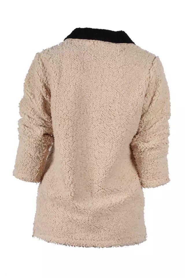 zipper sherpa pullover many color stock Women fleece oversize Zipper Jacket personalized Tunic Blank So Soft Outwear zipper pullover