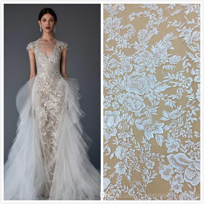 7d41a84120b Net Embroidery Lace Dress New Bridal Fabric