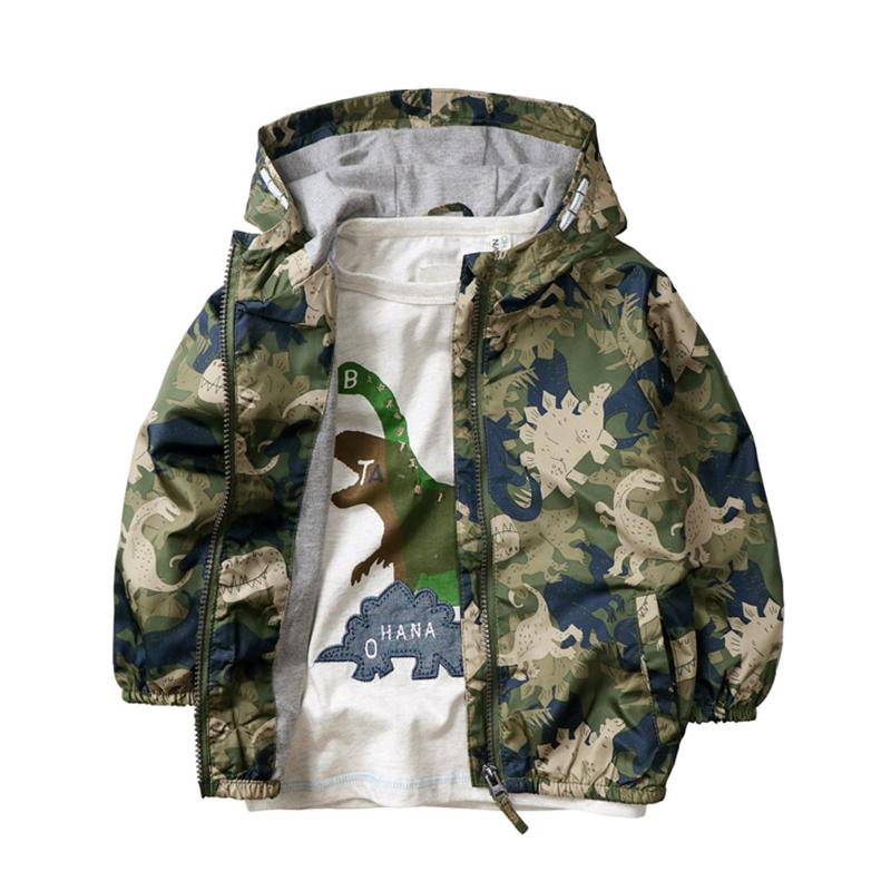 75a1a3f52 Boy Jacket Coat Boy Spring Hooded Coat Dinosaur Printed Very Good ...