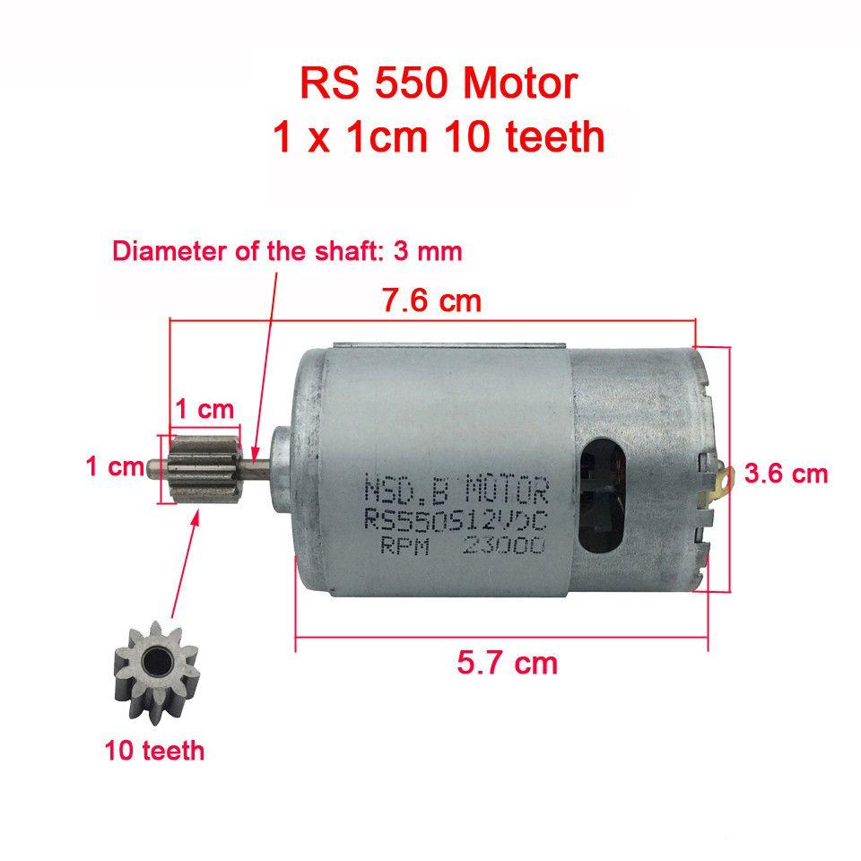 570 550 390 DC motor for children's electric car kid's toys car remote control cars, electric motor for electric car 12V/6V engine