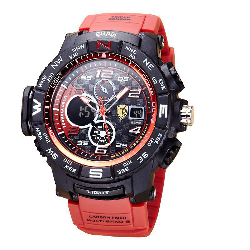 61e629f5099 Compre Nova Moda Esporte Relógio Homens Relogio Masculino Grande Relógios  De Pulso De Quartzo Digital Led Relógio De Luxo Eletrônico Erkek Saat 2018  De ...