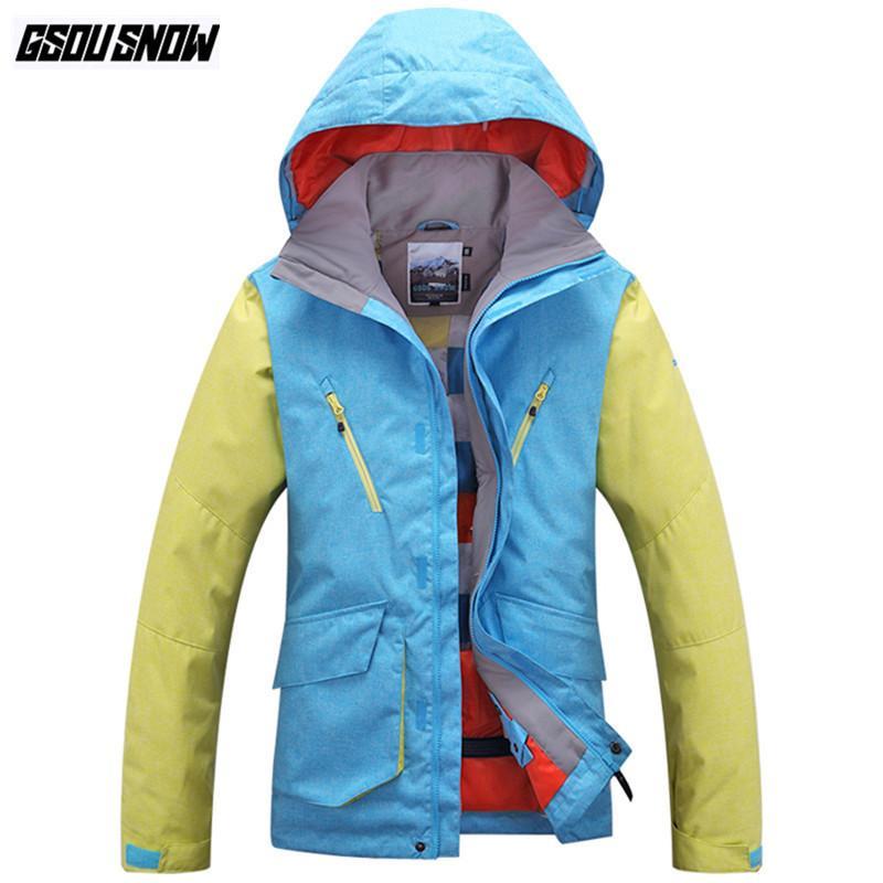 Snowboard Warme Mäntel Gsou Männer Outdoor Männlichen Wasserdichte Marke Anzüge Kleidung Jacken Ski Winter Schnee Sport 5LqA4R3j