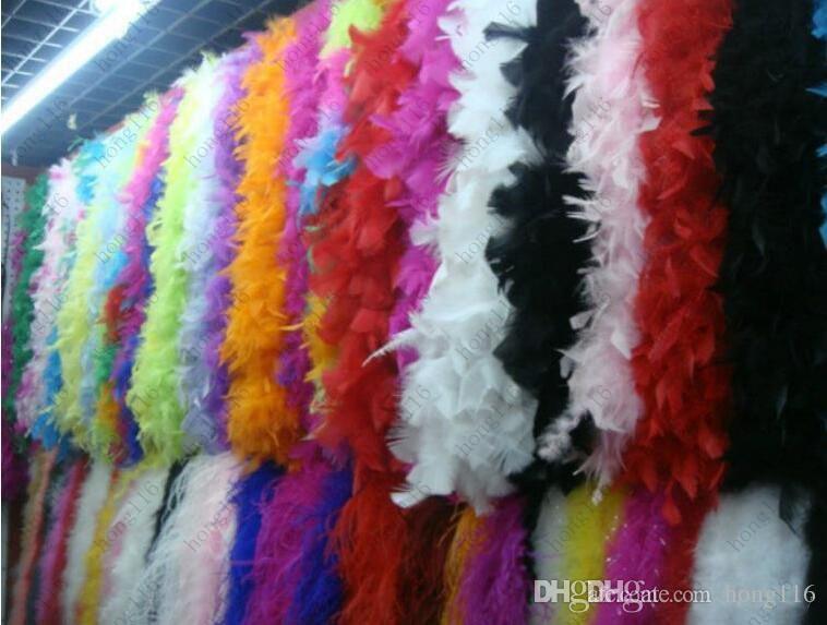 Feather boa 200cm burlesque showgirl hen night fancy dress party dance costume accessory wedding DIY decoration
