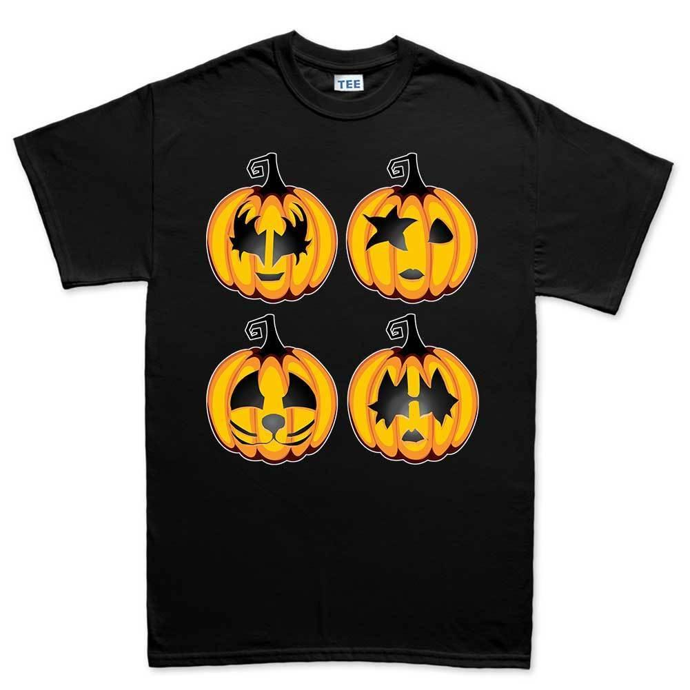 Halloween Rock Pumpkin Scary Costume Camiseta para hombre Tee Top camiseta Cool Casual pride camiseta para hombre Unisex New Fashion camiseta Tamaño suelto