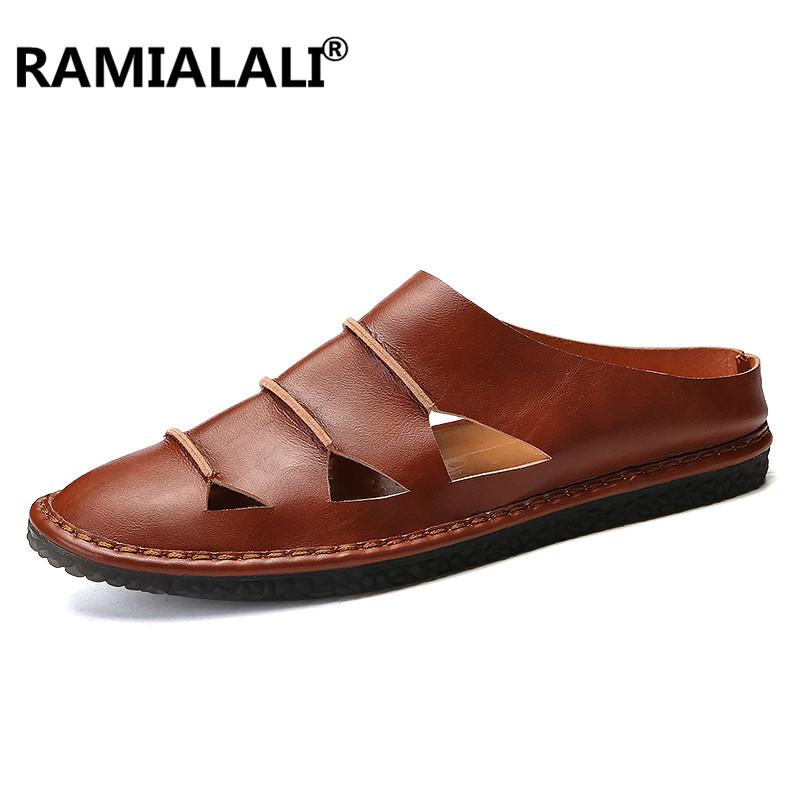 4c0e680b4f247 Men Casual Beach Shoes High Quality Summer Sandals Soft Sole Fashion ...