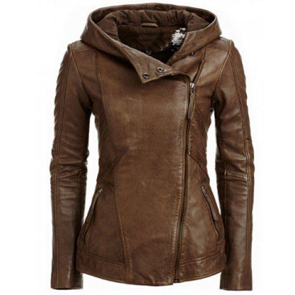 6f1c33546e853 Winter Autumn Punk Faux Leather Jacket Coat Women
