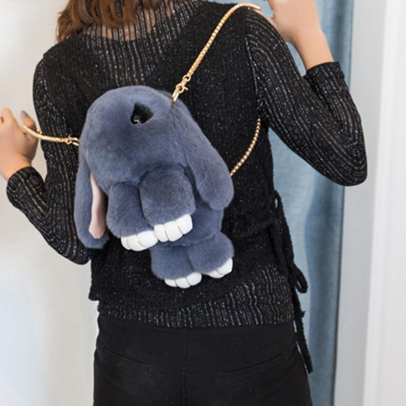Big Rabbit Bag Women Fluffy Bunny Women Messenger Bag Female Shoulder Cute  Chain Crossbody Bags Teenage Girls Real Rabbit Fur Handbags For Women  Brahmin ... e7fee66c15