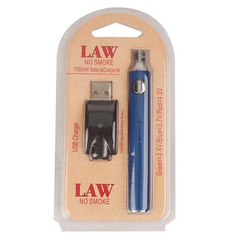 Batería de precalentamiento de ley Kit de cargador USB 1100mah O Pen Bud Batería de voltaje variable para CE3 G2 G5 th205 Mt6 cartuchos 0266177-1