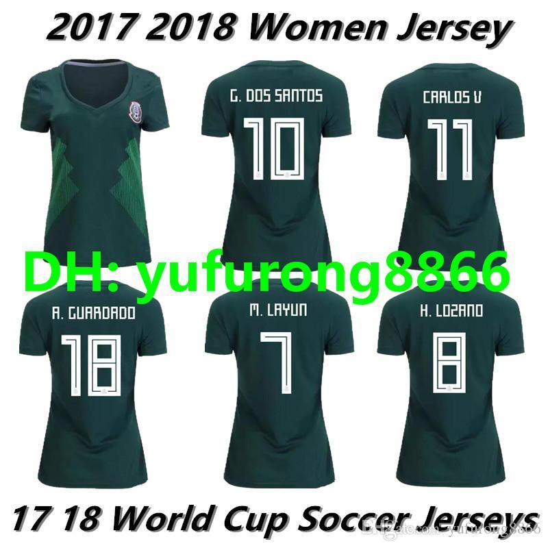 de5f6680df8 new zealand 2018 world cup woman mexico soccer jersey mexico home 8  h.lozano 10