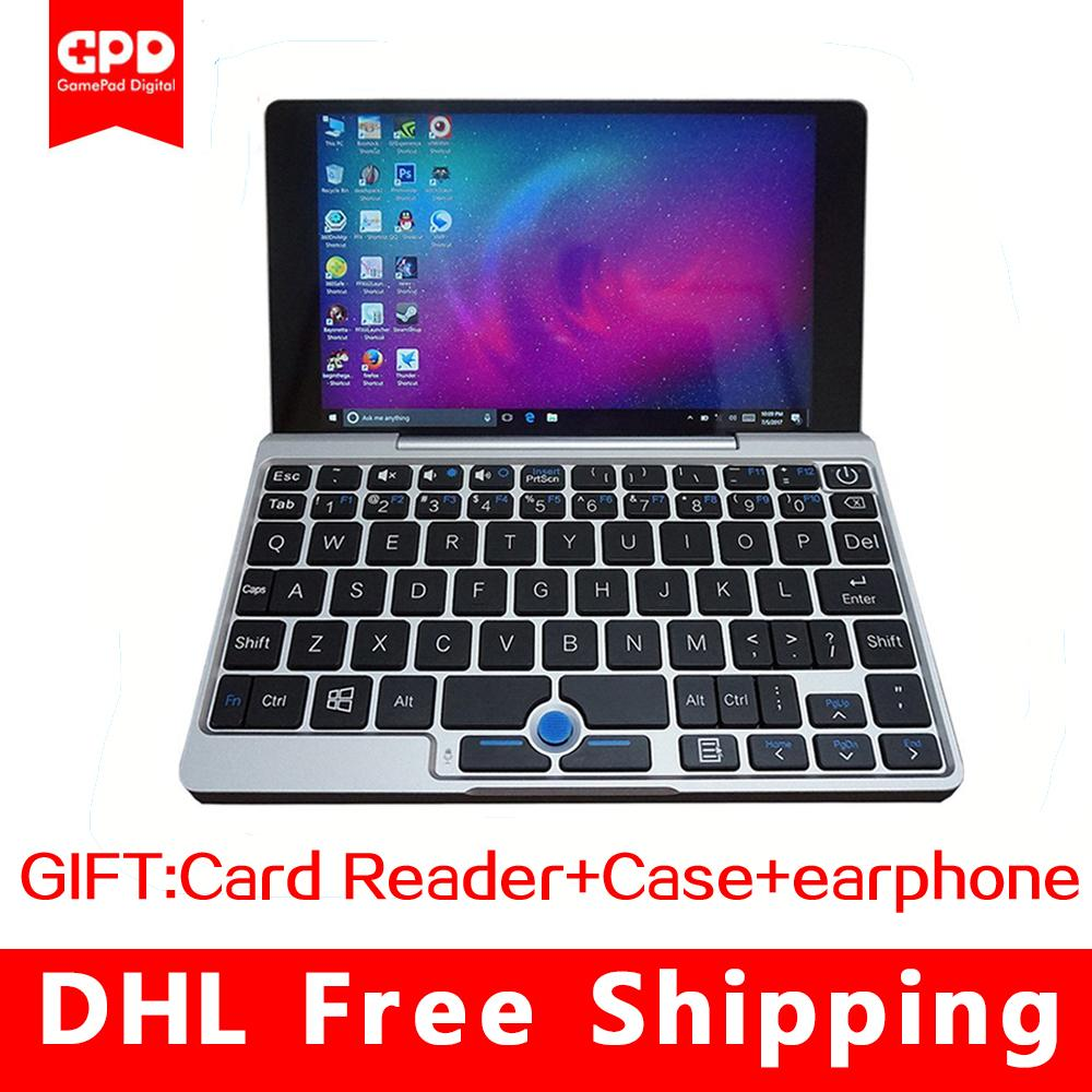 GPD Pocket Aluminum Shell Mini touch Screen Laptop windows 10 UMPC 7  NoteBook Tablet PC X7-Z8750 8GB/128GB (silver)