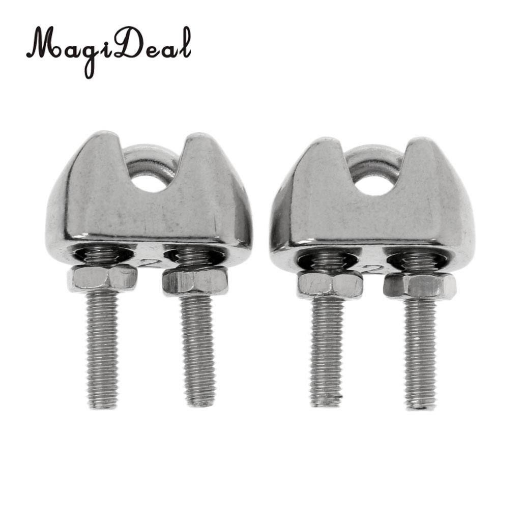 2018 Magideal M2 1/16 Inch Stainless Steel Wire Rope Cable Clip ...