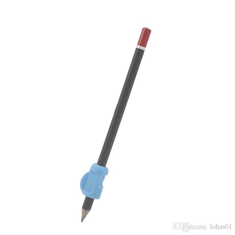 الغذاء الصف الآمن سيليكون مريح الكتابة مخلب المعونة أقلام القبضات التدريب القلم حامل للأطفال الطلاب رياض الأطفال ، ألوان متنوعة