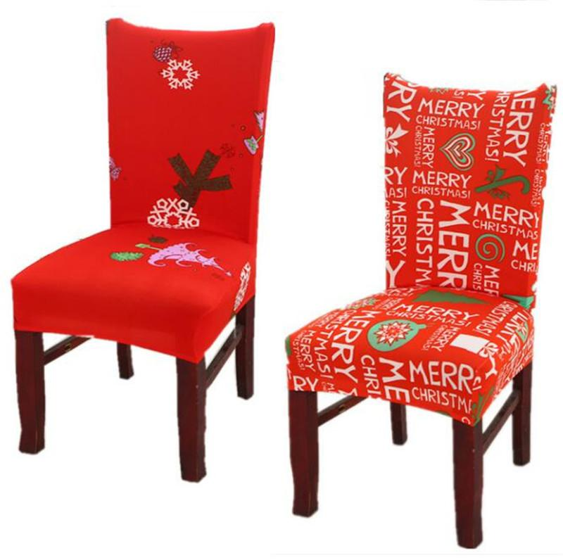 Christmas Chair Covers Home Dining Multifunctional Antifouling Cover Removable Elastic Xmas Slipcovers Seat MMA1052 Room