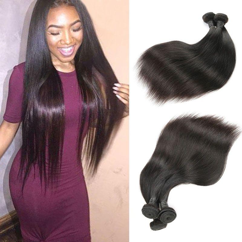 Brazilian Virgin Human Hair 3 Bundles Straight Hair Weaves Straight