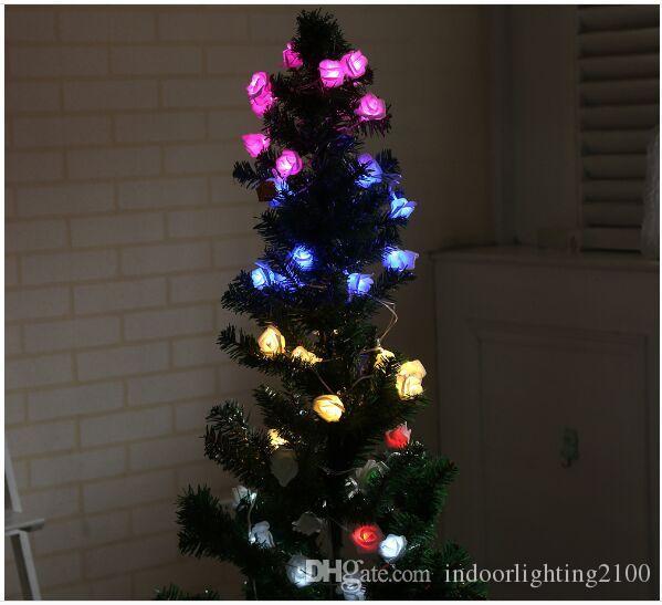 e4513d74aba Compre Estilo De La Batería 10 Unids Led Rose Flash String Lights Fiesta  Del Festival Del Árbol De Navidad Decoración Del Hogar Luces De La Noche  Luces ...