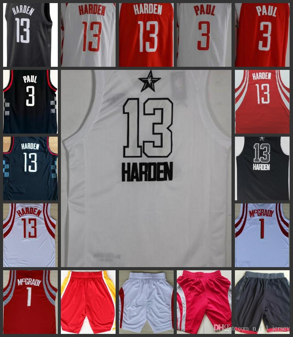2018 Top Men Houston Rockets Jersey  13 James Harden 3 Chris Paul Home Red  White Black Stitching Jerseys Ball Pants Online with  21.86 Piece on ... b5c283b1f