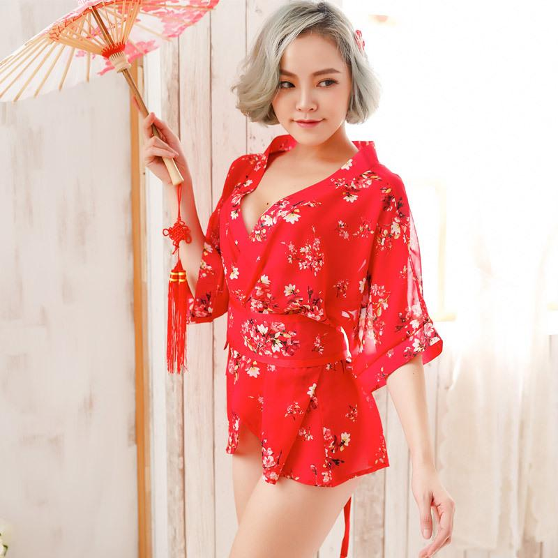 28b8e45925 2018 Fashion Women S Sleep Lounge Hot Sell Women Sexy Floral Robes Intimates  Bathrobe Kimono UK 2019 From Nakewei