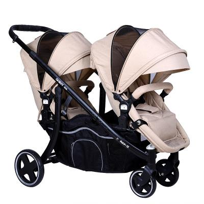 Twin stroller suspension can sit lie baby stroller light folding trolley double seat spin-off cart baby buggy
