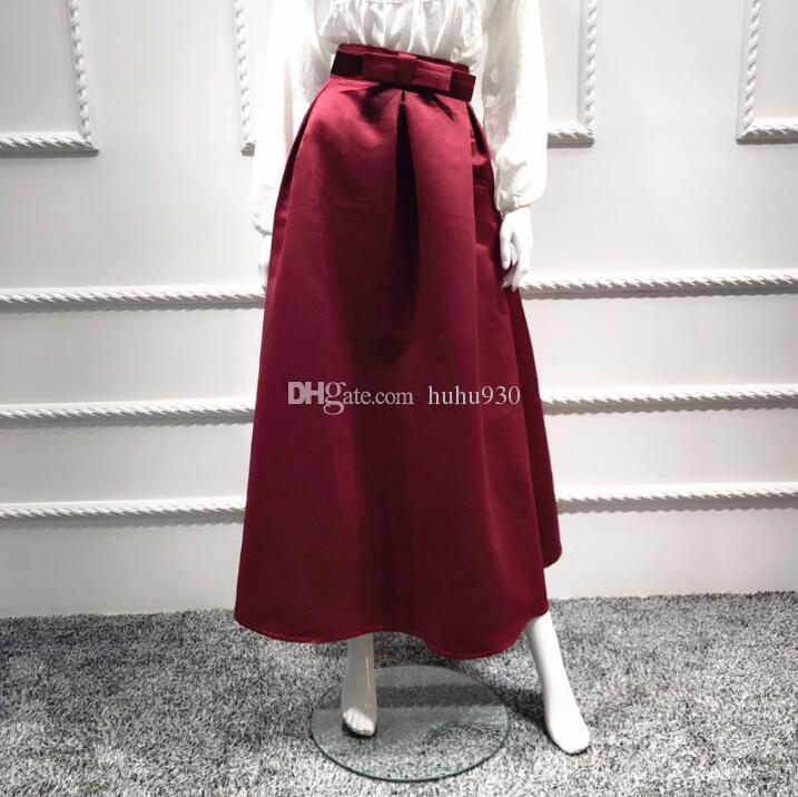 3ac74fd4be 2019 2018 Long Muslim Skirts Abaya Dubai Kaftan Ramadan Elegant Adult  Fashion Bow Islamic Maxi Skirt Women Bottoms Moroccan Clothing From  Huhu930, ...