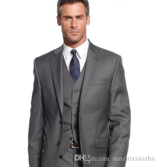 Acheter Costume Hommes 2018 Brand New Noir Hommes Robe Costumes De Mariage  Groom Slim Fit Un Bouton D affaires Casual Blazer Ensemble Vêtements Hommes  De ... de1504134d6