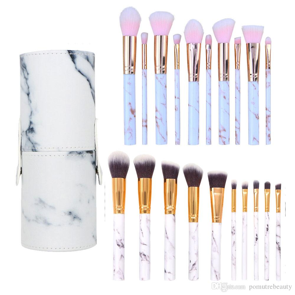 20cc55d4d6e Professional Marble Makeup Brushes Sets Soft Makeup Brush Holder Foundation  Powder Brush Marble Make Up Tools Cheaper Makeup Brush Kit Makeup Artists  Makeup ...