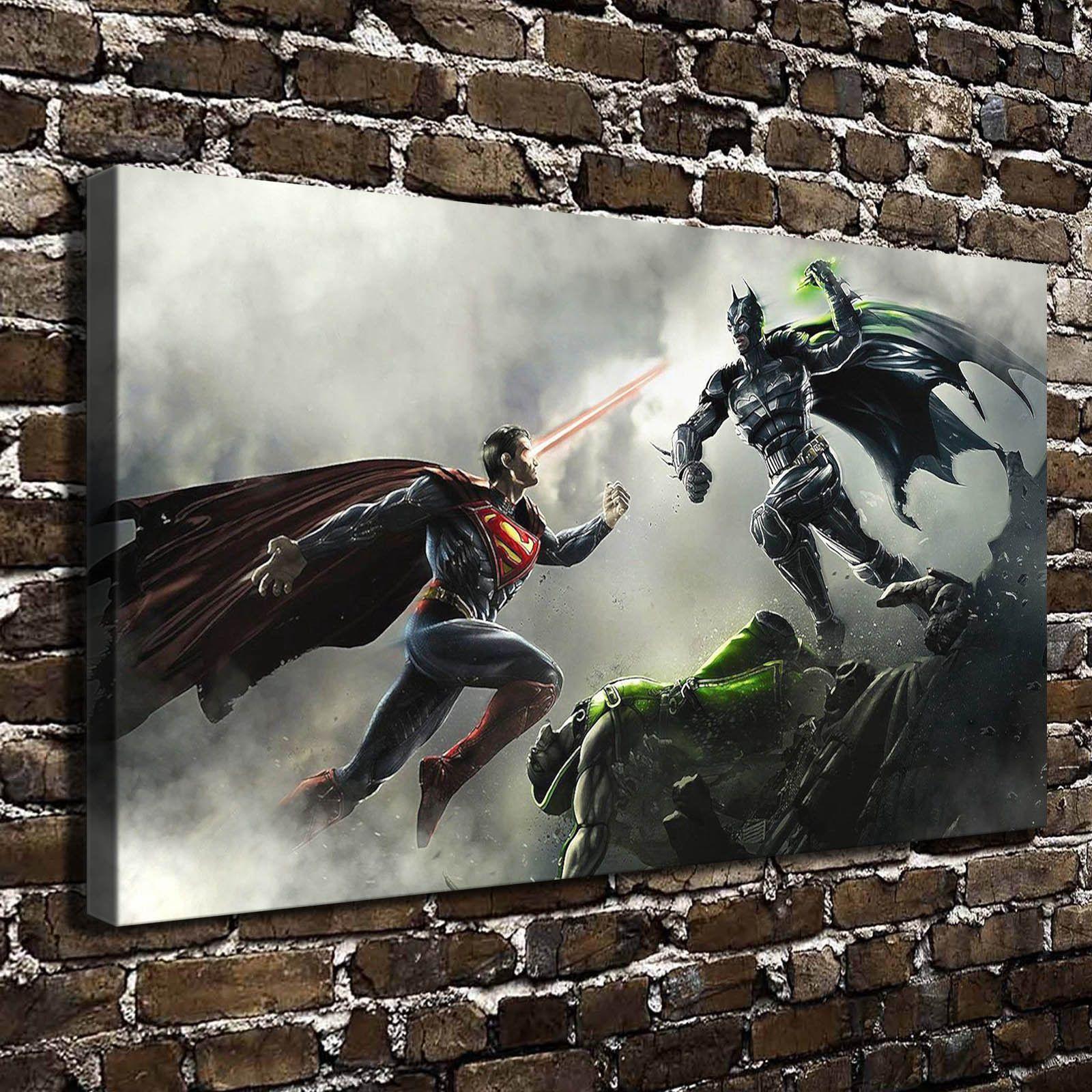 22 Modern Batman Ausmalbilder Zum Drucken Porträt: 2019 Superman Vs Batman Modern Abstract Canvas Oil