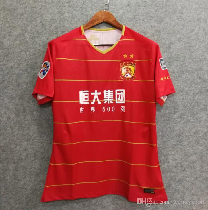 1c7fe2546 Envío Gratis Camiseta De Fútbol 2018 Guangzhou Evergrande Jersey Camisetas  De Fútbol Sala 18 19 PAULINHO GOULART ZHENG Z. Calidad Superior Por  Wendysport