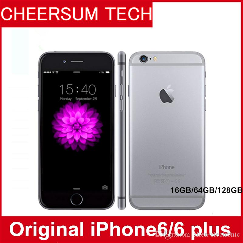 "Iphone 6 plus Unlocked Original Apple iPhone 6 Plus without fingerprint LTE Mobile phone 5.5"" IOS 1GB RAM 1080P 8MP refurbished cellphone"