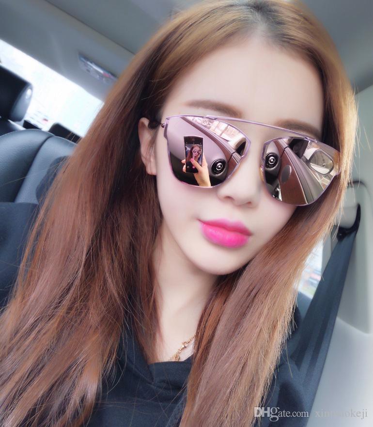 e4689b279a8 High Quality Mirror Rose Gold Cat Eye Sunglasses Women Round Luxury Brand Female  Sun Glasses Women Fashion Oculos Star Style Shades Baseball Sunglasses John  ...