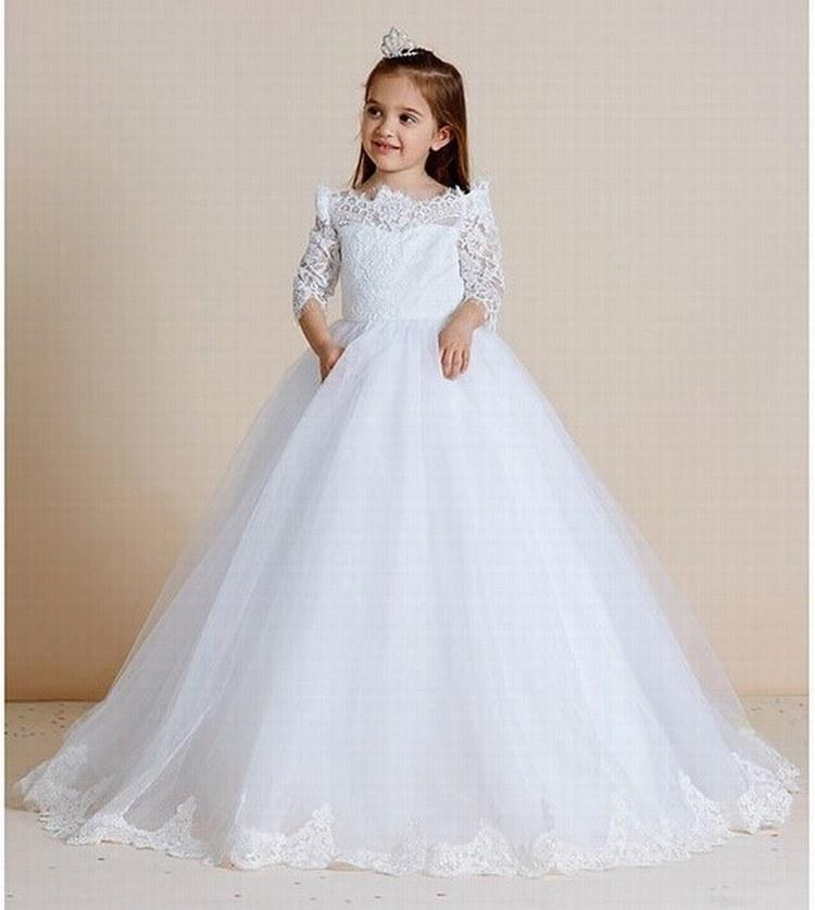 4ab2178a81c Charming Lace Tulle Flower Girl Dresses Kids Wedding Party Bridesmaid  Children Dress Formal Dress GHYTZ337 Kids Bridesmaid Dresses Lace Flower  Girl Dress ...