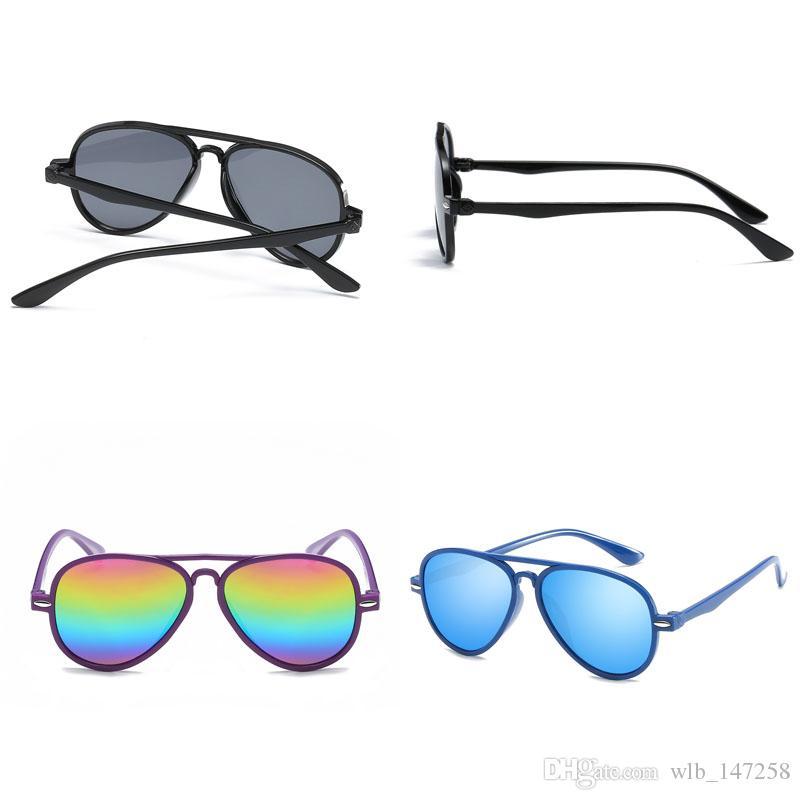 Color film Glasses Boys Sunglasses Children Anti-UV Girls Baby Kids Goggles
