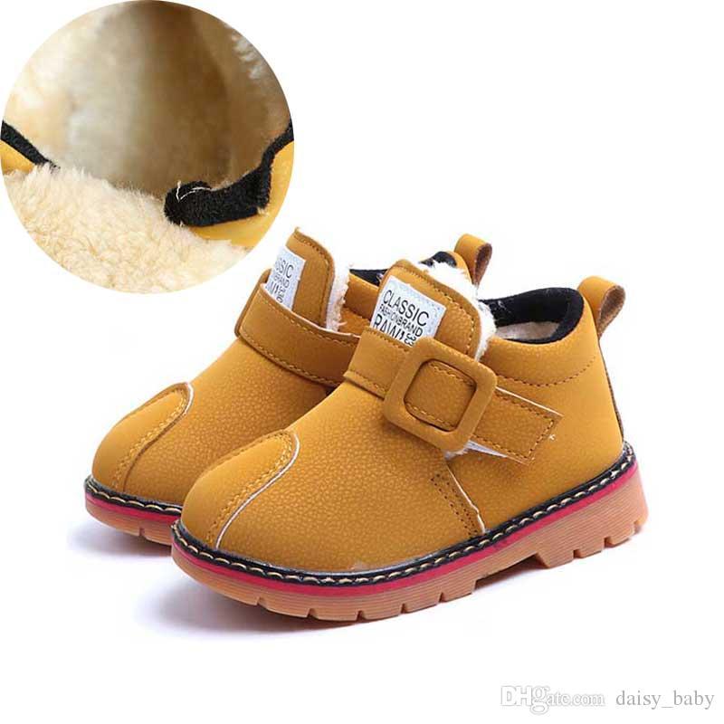 386bce39be39e Acheter Hiver Enfants Bottines Chaussure Enfants Classique Non Slip Bottes  De Neige Enfant De Mode Chaussures Chaudes Garçons Filles Botas Chaussures  2018 ...