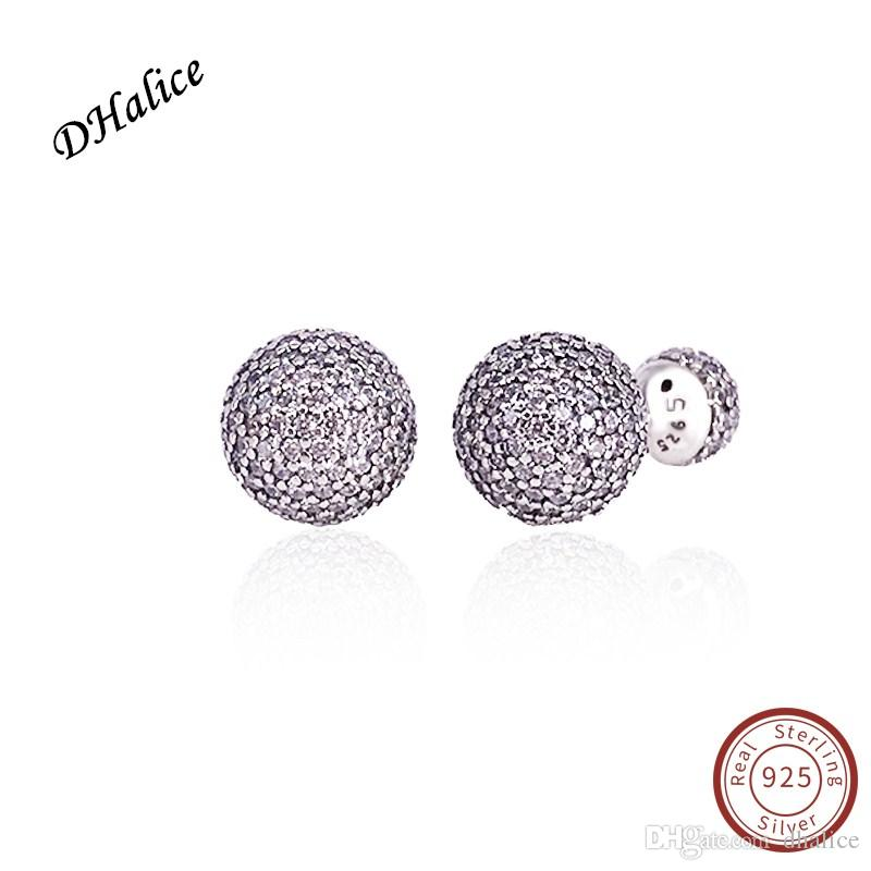 676349c07 Authentic 100% 925 Sterling Silver Earring Pave Drops With Full CZ ...