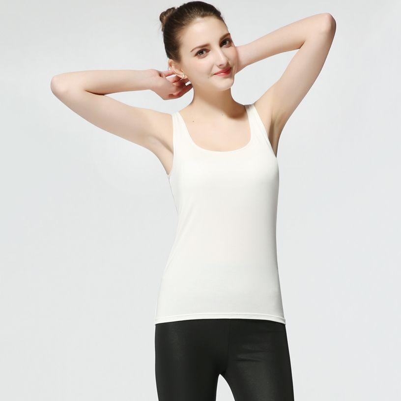 c1b91d18d44d36 VICOODA VICOODA Women s Cami Camisole Built In Bra Ladies Adjustable Padded  Straps Push Up Bra Vest Tank Top Walmart com Source · 2019 Women Built In  Padded ...