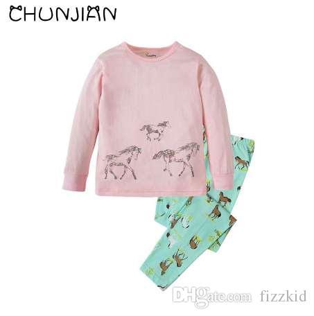 cc3e996bf8 Großhandel Baby Tier Stil Pijamas Kinder Pferd Pyjamas Kinder Kleidung Sets  Mädchen 100% Baumwolle Nachtwäsche Kinder Nachtwäsche Von Fizzkid, $18.1  Auf De.