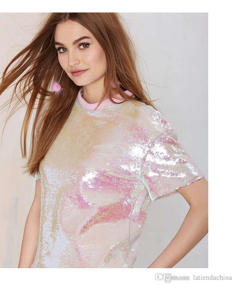 Smaragdgrün Blumendruck T-Shirt Kostenloser Versand