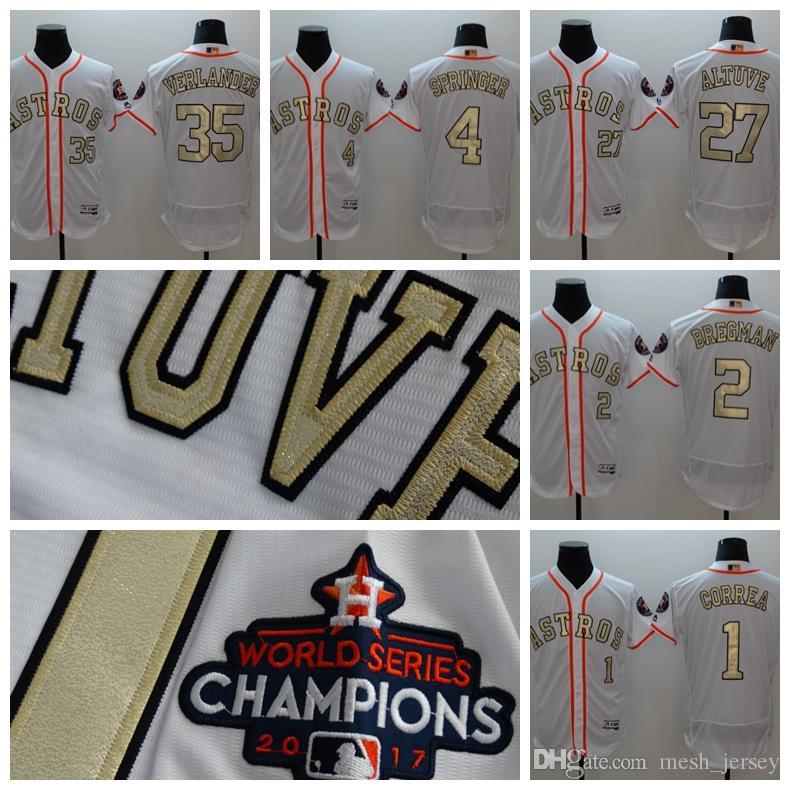 2018 Gold Program 27 Jose Altuve 35 Justin Verlander Houston Jersey Astros  4 George Springer 1 Carlos Correa Cool Base Jerseys Los Angeles Dodgers  Baseball ... 43181f617