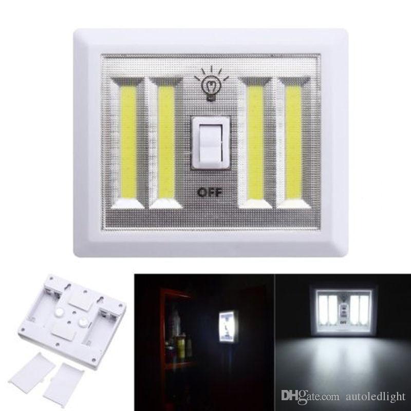 8W Batteriebetriebene LED-Nachtlichter COB-LED-Schnurloser Lichtschalter unter Schrank Regal Nachtlicht Küche RV Boot