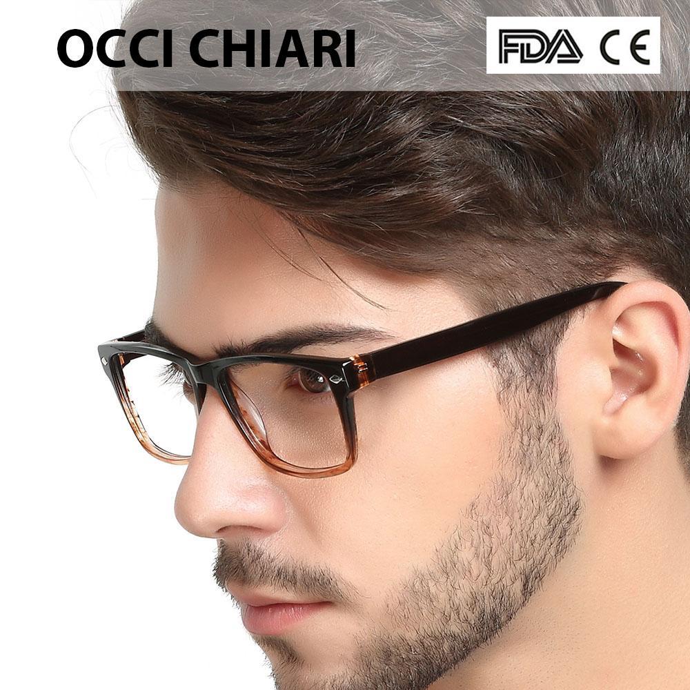 Compre 2018 Alta Qualidade Óculos De Moda Quadrado Preto Masculino Acetato  De Armação De Óculos De Dobradiça De Mola Prescrição Óculos De Armação  Homens W ... c405c30317