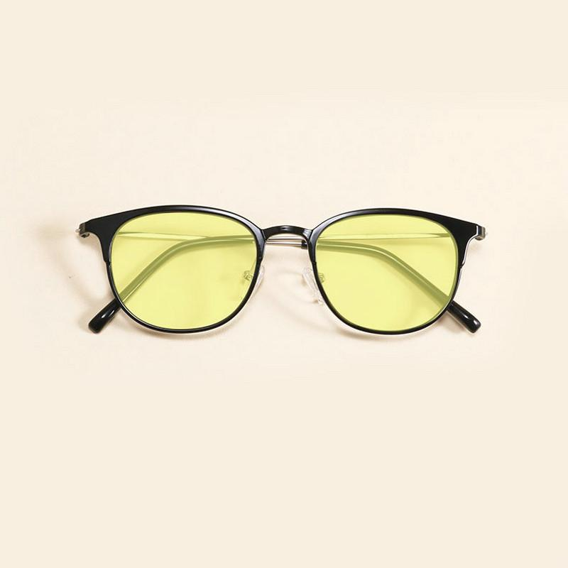 Retro large frame plastic steel glasses frame for men and women tide wild blue Light Blocking Glasses goggles to send boxes JW