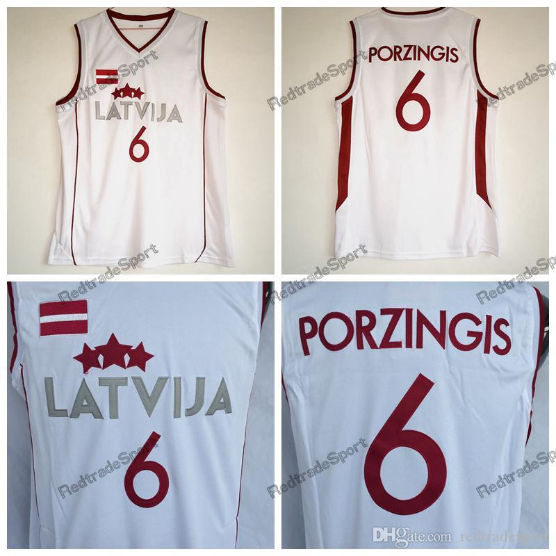 8265e9d2496 2019 Mens Vintage White Kristaps Porzingis #6 Latvija Basketball Jerseys  Cheap Kristaps Porzingis Team Latvija Stitched Shirts S XXL From  Redtradesport, ...
