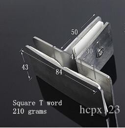 La partición de la bisagra de la puerta de cristal del emparedado del vidrio del acero inoxidable fijó las guarniciones del hardware de la abrazadera