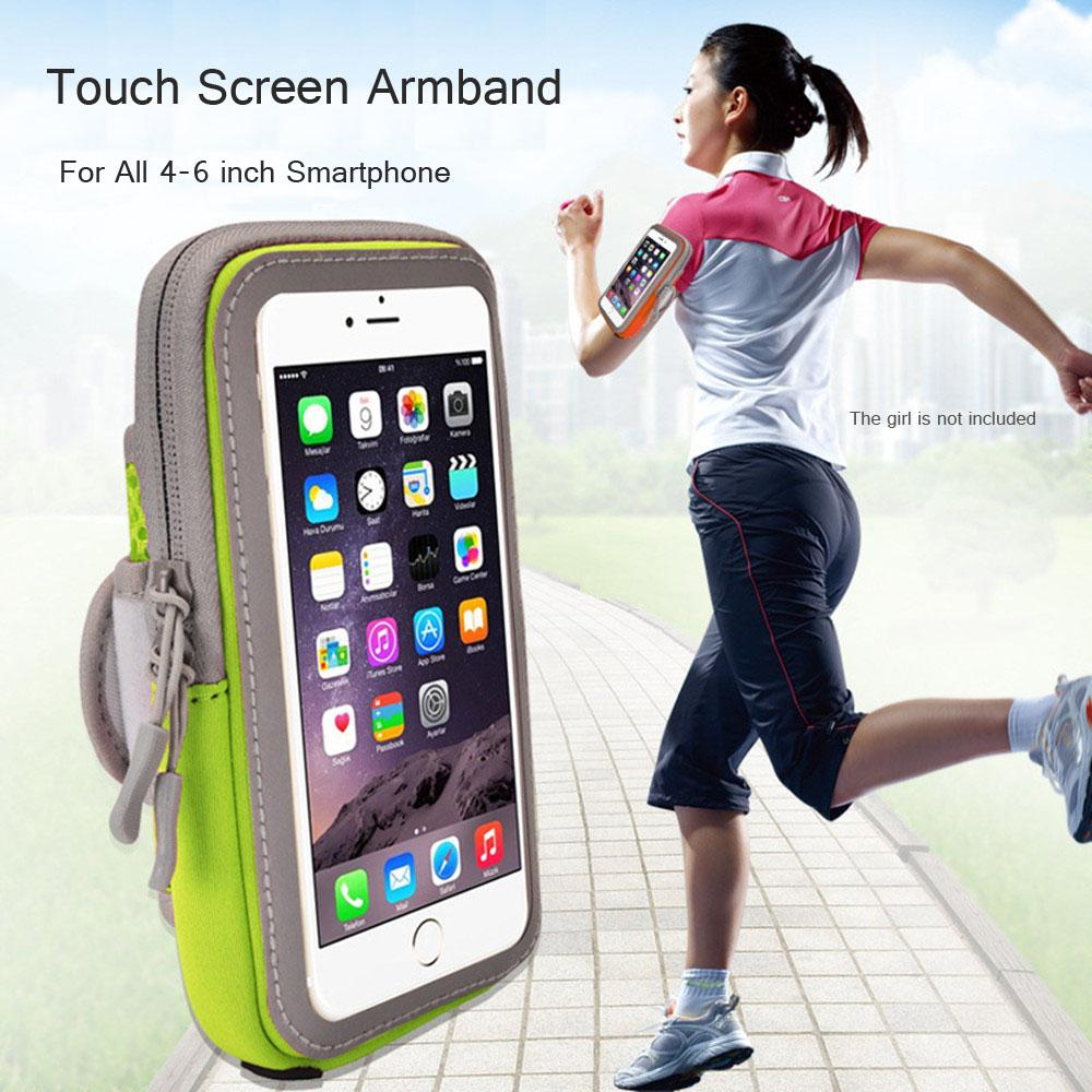 sale retailer b7554 e6864 Touch Screen Armbands For 7 Plus 6 5 Sport Phone Band Case For S8 S9 Plus  Reflective Effect Running Arm Phone Bag