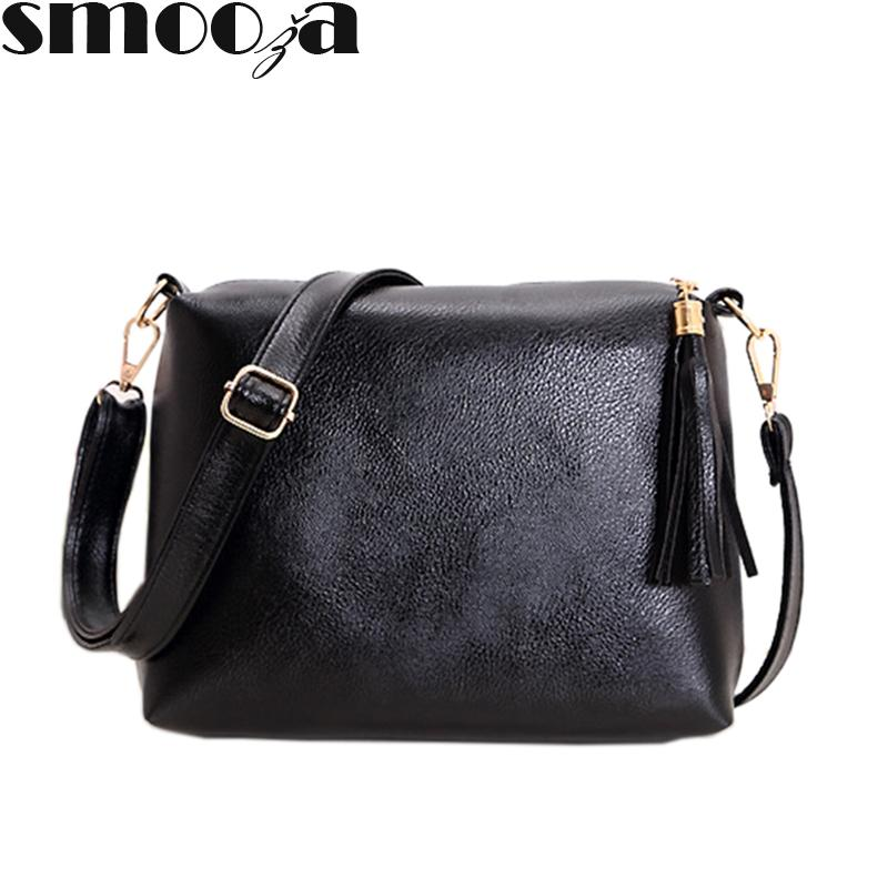 333ca5263a12 SMOOZA Women s Tassels Shoulder Bag Ladies Retro PU Leather Crossbody Bag  for Women with Luxury Handbags Women Bags Designer Online with  31.37 Piece  on ...