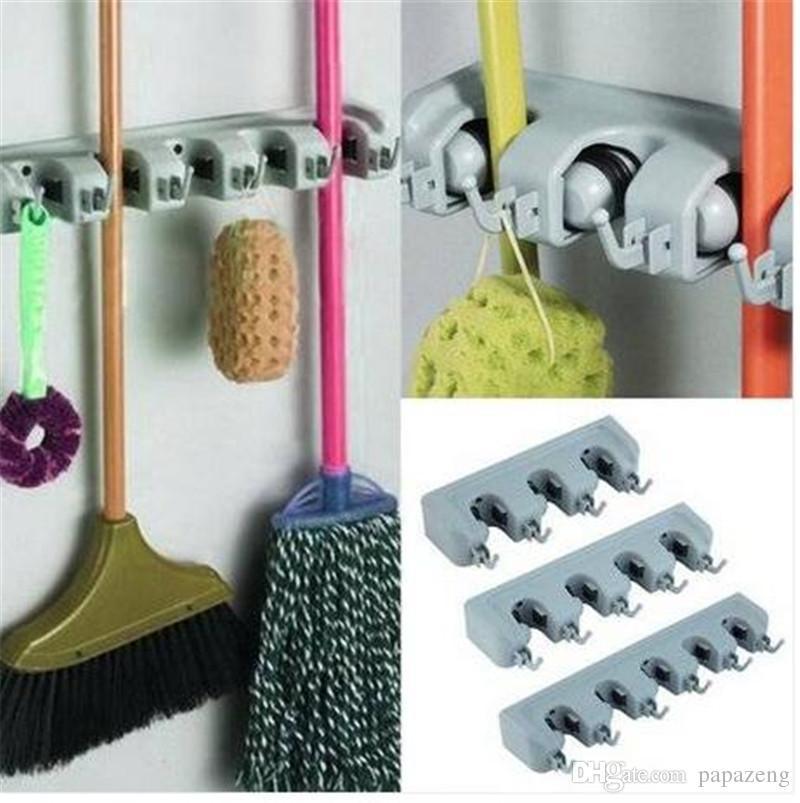 2018 Wall Mounted Mop Organizer Holder Brush Broom Hanger Storage Rack  Kitchen Tool Hooks U0026 Rails Housekeeping U0026 Organization From Papazeng, $8.04  | DHgate.