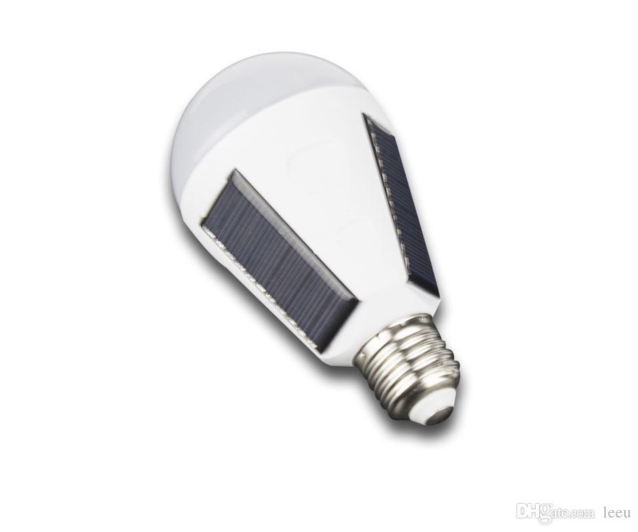 E27 7W 12W Lampada solare 85-265V Energy Saving Light LED Lampada intelligente Ricaricabile Solar Emergency Bulb Daylight