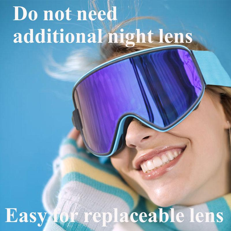 725a6e380dcf Ski Goggles 2 in 1 with Magnetic Dual-use Lens Night Anti-fog UV400  Snowboard Skiing Goggles for Men Women Ski Glasses Eyewear Skiing Eyewear  Cheap Skiing ...