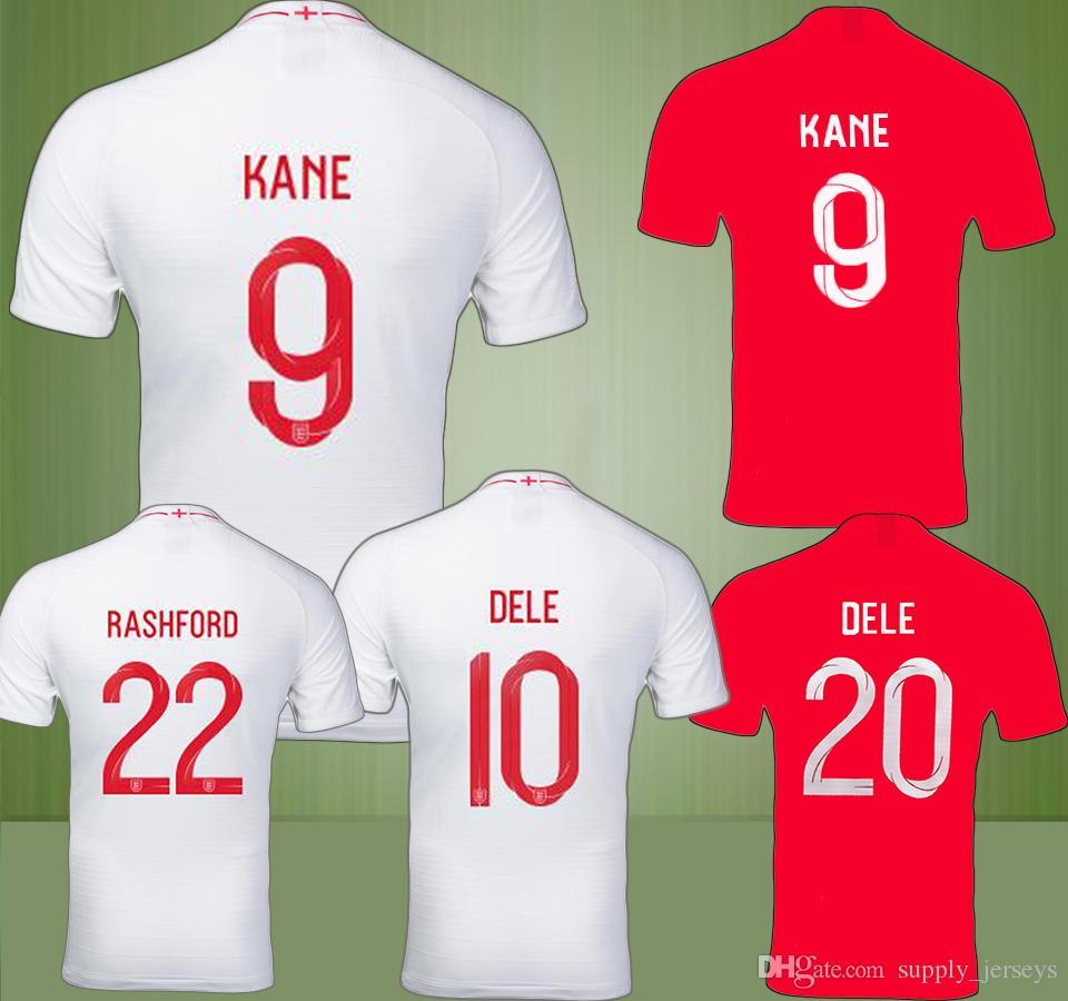 4c55f2650 Nike England Home Shirt 2018 England World Cup 2018 Kit  2018 ENGLAND World  Cup Home Away Jersey DELE KANE WALCOTT